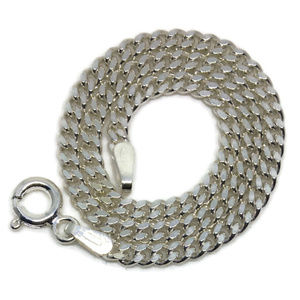 thin curb chain anti-tarnish silver bracelet